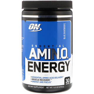 Optimum Nutrition, Essential Amino Energy, blaue Himbeere û 9,5 oz (270 g)