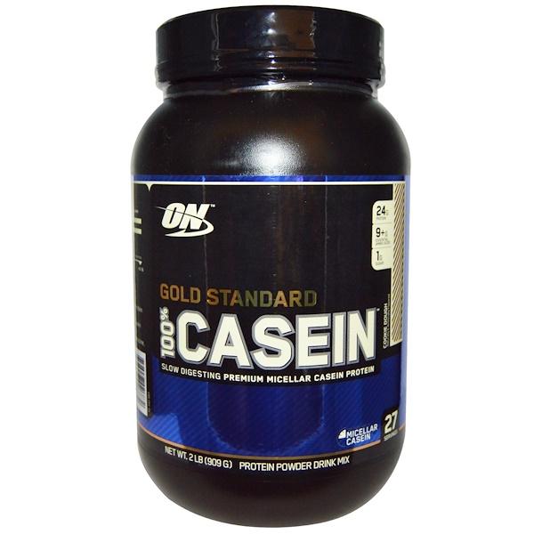 Optimum Nutrition, Золотой стандарт, 100% казеин, протеиновый порошок, печенье, 909 г (2 фунта) (Discontinued Item)