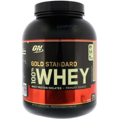 Фото - Золотой стандарт, 100% сыворотка, шоколад кокос , 5 фунтов (2.27кг) gold standard 100% сыворотка аппетитная клубникка 5 фунтов 2 27 кг