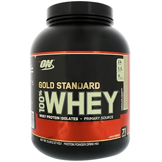Optimum Nutrition, Gold Standard, 100% Whey, Chocolate Coconut, 5 lbs (2.27 kg)