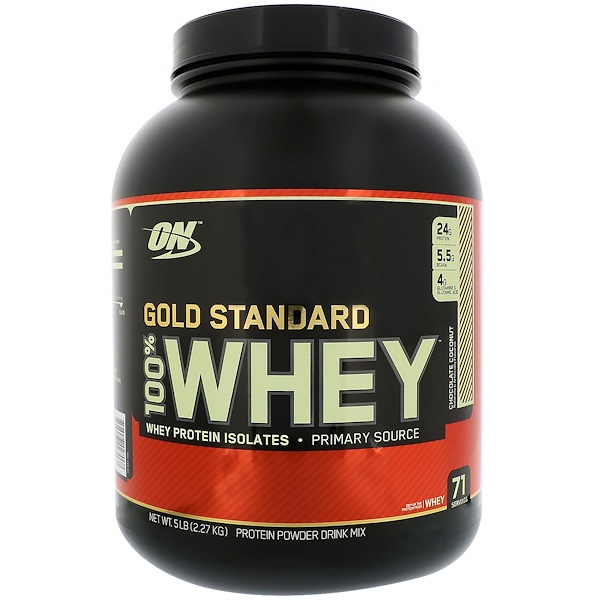 Optimum Nutrition, Gold Standard, 100% Whey, Chocolate Coconut, 5 lbs (2.27 kg)