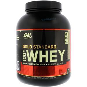Оптимум Нутришэн, Gold Standard, 100% Whey, Chocolate Coconut, 5 lbs (2.27 kg) отзывы покупателей