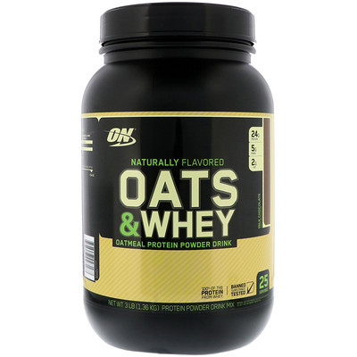 Oats & Whey Protein Powder Drink Mix, Milk Chocolate, 3 lbs (1,36 kg)