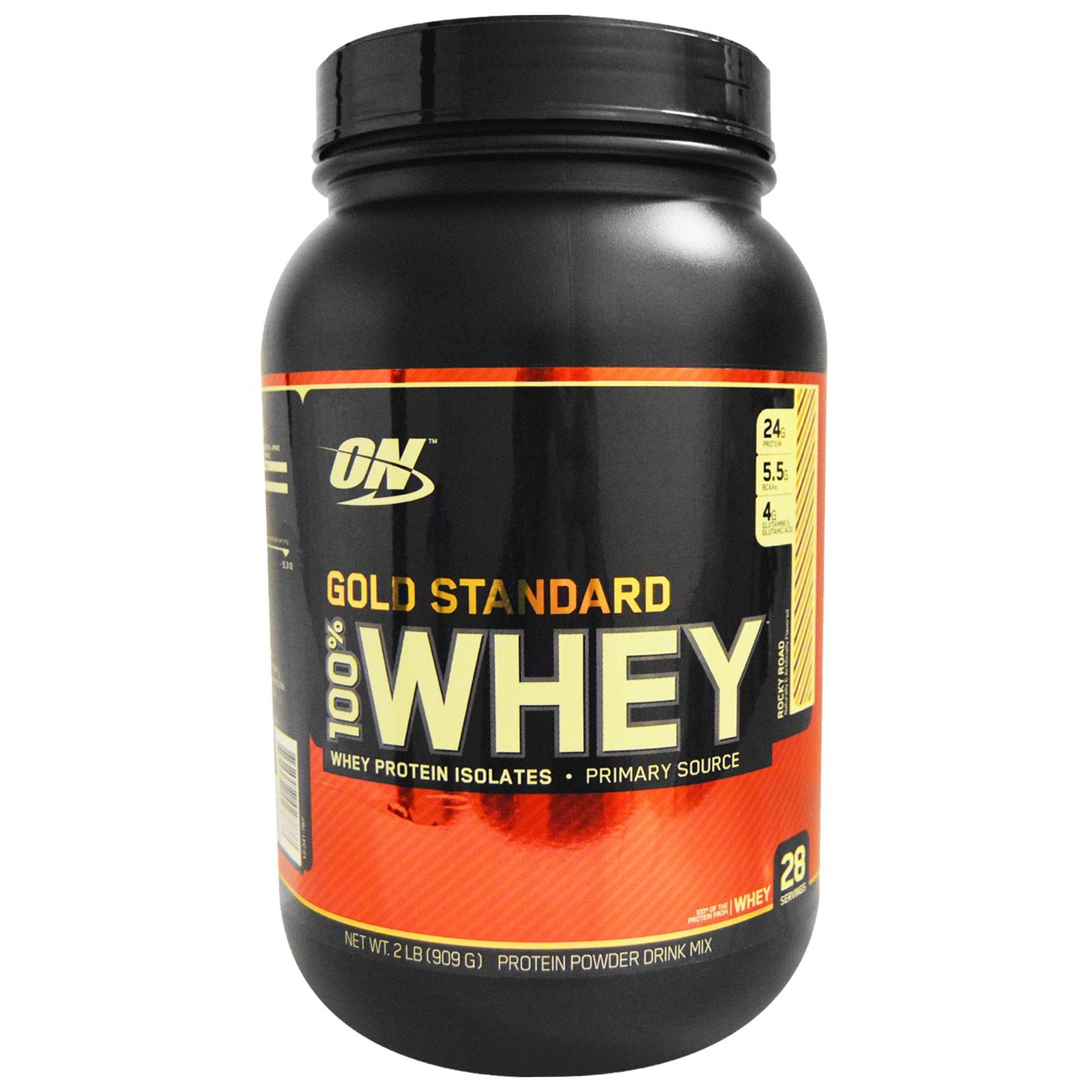 Optimum Nutrition, 100%-ная молочная сыворотка «Золотой стандарт», Каменистая дорога, 2 фунта (909 г)