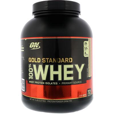 Купить Optimum Nutrition Gold Standard 100% Whey, сыворотка со вкусом шоколадного мороженого, 2, 27 кг (5 фунтов)