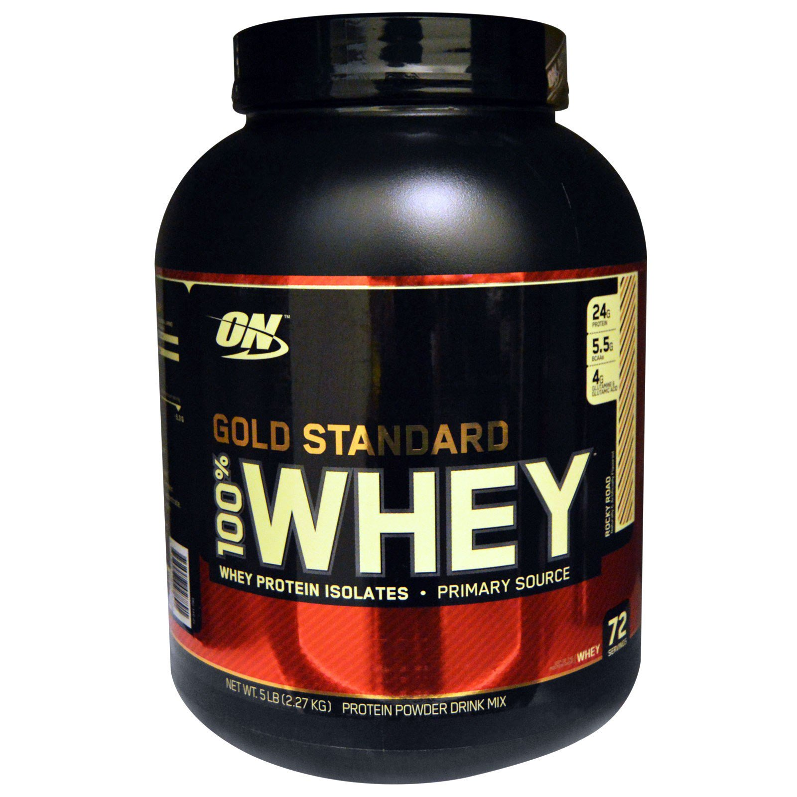 Optimum Nutrition, Gold Standard, 100% сыворотка, Rocky Road, 2,27 кг (5 фунтов)