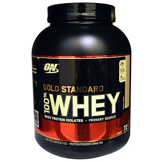 Optimum Nutrition, Gold Standard, 100% Whey, Rocky Road, 5 lbs (2.27 g)