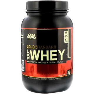 Optimum Nutrition, Gold Standard, 100% Whey, chocolat riche double, 909 g (2 lb)