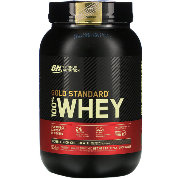 Optimum Nutrition, Gold Standard 100% Whey, Chocolate Rico Duplo, 907 g (2 lb)