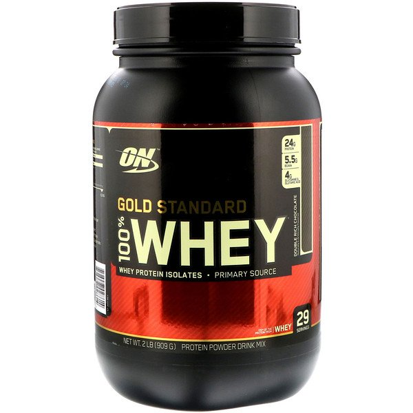 Gold Standard, 100% Whey, Double Rich Chocolate, 2 lb (909 g)