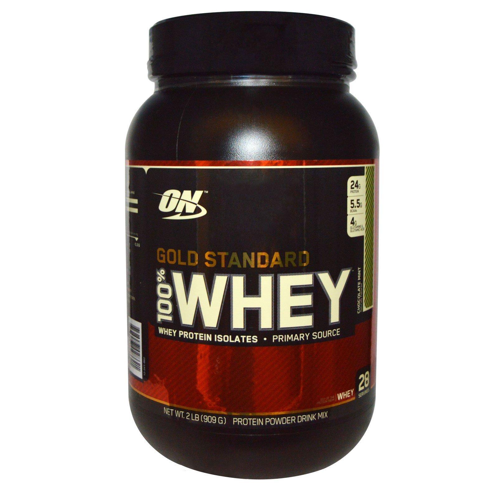 Optimum Nutrition, 100% сыворотка золотого стандарта, с шоколадом и мятой, 2 фунта (909 г)