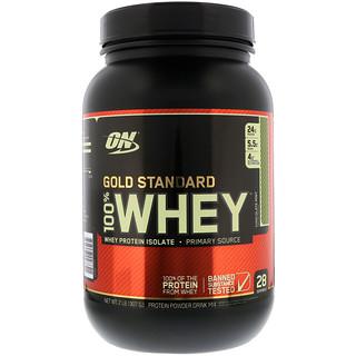 Optimum Nutrition, 100% сыворотка золотого стандарта, с шоколадом и мятой, 2 фунта (907 г)