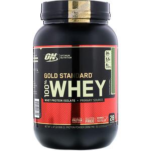 Оптимум Нутришэн, Gold Standard 100% Whey, Chocolate Mint, 1.97 lb (896 g) отзывы покупателей