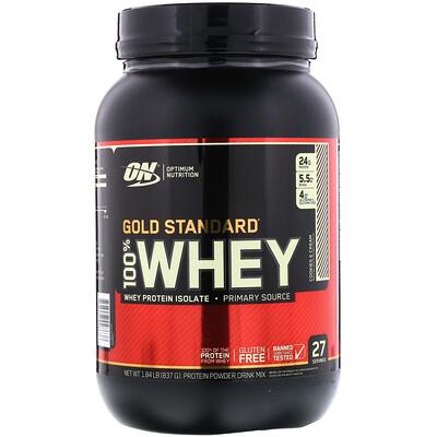 Золотой стандарт 100% молочная сыворотка, Печенье и сливки, 1.84 фунта (837 г)