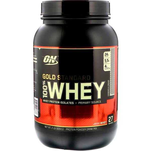 Optimum Nutrition, Gold Standard, 100% 乳清蛋白,2磅(909克)