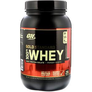 Оптимум Нутришэн, Gold Standard 100% Whey, Delicious Strawberry, 2 lb (909 g) отзывы покупателей
