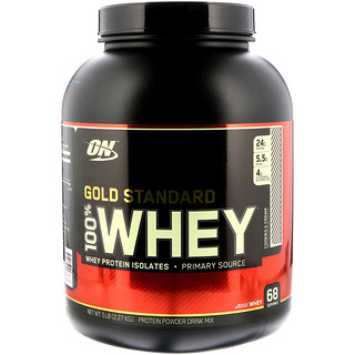 Optimum Nutrition, معيار الذهب، 100% مصل حليب، غني بالشوكولاتة المزدوجة، 5 رطل (2.27 كلغ)