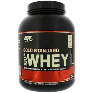ゴールドスタンダード100%ホエイ、ダブルリッチチョコレート(2,27kg)