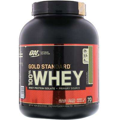 100%-ная молочная сыворотка Gold Standard, шоколад ми мята, 4.94 фунтов (2,24 кг)
