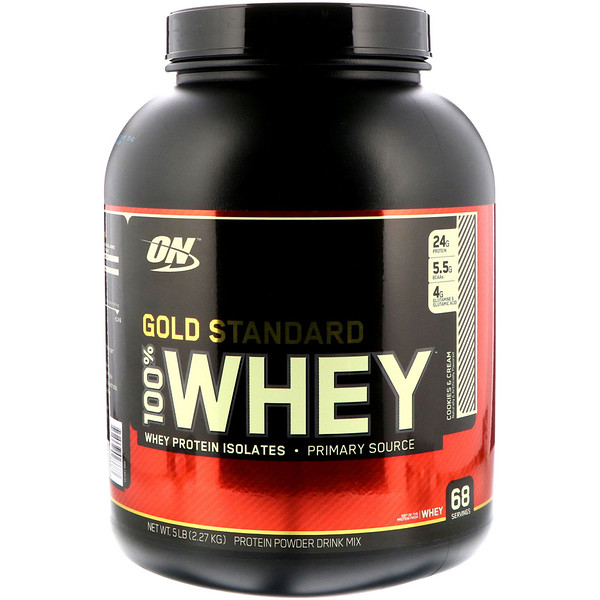 Optimum Nutrition, Gold Standard, 100% Whey, Cookies & Cream, 5 lbs (2.27 kg)