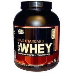 Optimum Nutrition, (オプティマムニュートリション)ゴールドスタンダード、100%ホエイ、おいしいイチゴ、5ポンド(2.27 kg)