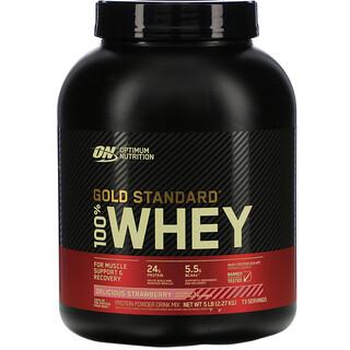 Optimum Nutrition, 100% شرش لبن من Gold Standard، الفراولة اللذيذة، 5 رطل (2.27 كجم)