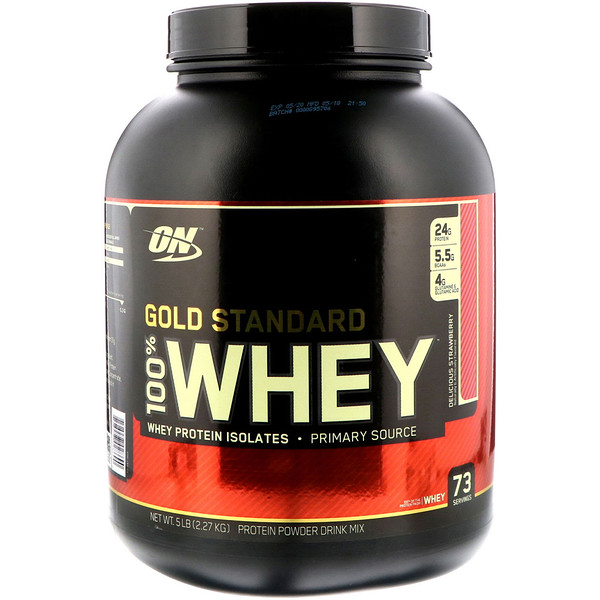 Gold Standard, 100% Whey, Delicious Strawberry, 5 lbs (2.27 kg)