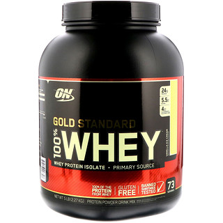 Optimum Nutrition, Gold Standard, 100% Whey, Vanilla Ice Cream, 5 lb (2.27 kg)
