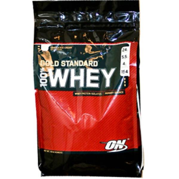 Optimum Nutrition, 100% Whey Gold Standard, Vanilla Ice Cream, 10 lb. (4,545 g) (Discontinued Item)