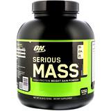 288de221f Optimum Nutrition, سيرياس ماس، مسحوق اكتساب الوزن عالي البروتين، الموز، 6  أرطال (2.72 كجم)