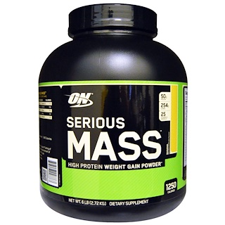 Optimum Nutrition, Serious Mass, Banana, 6 lbs (2.72 kg)