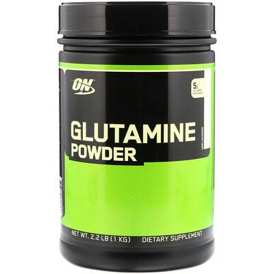 Купить Глютамин в порошке, неароматизированный, 2, 2 фунта (1 кг)