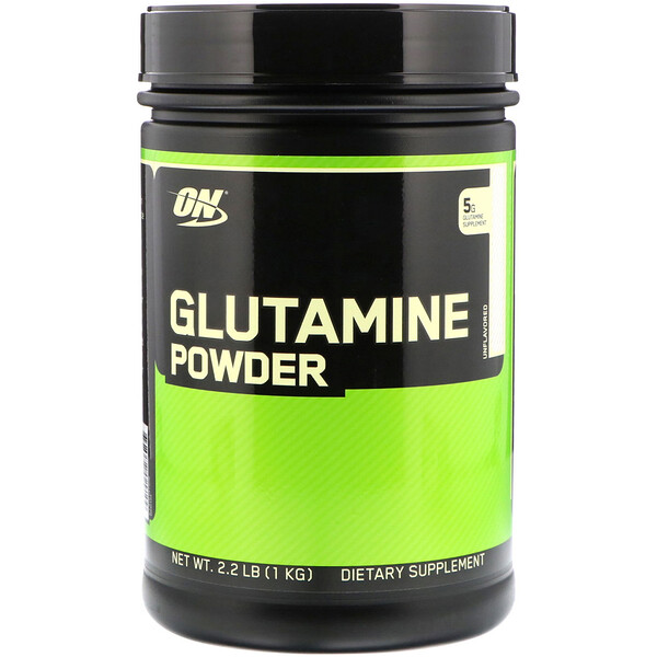 Glutamine Powder, Unflavored, 2.2 lbs (1 kg)