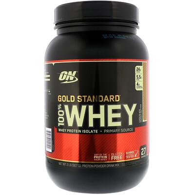 Купить Optimum Nutrition Gold Standard 100% Whey, Chocolate Peanut Butter, 2 lbs (907 g)