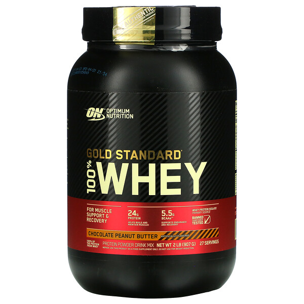 Optimum Nutrition, Gold Standard 100% Whey, Chocolate Peanut Butter, 2 lbs (907 g)