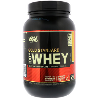Optimum Nutrition, Gold Standard, 100% Whey, Banana Cream, 2 lb (907 g)