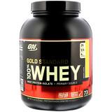 Optimum Nutrition, Gold Standard, 全 乳清蛋白粉,香蕉奶油口味,5磅(2273克)