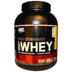 Optimum Nutrition, (オプティマムニュートリション)100%ホエイ・ゴールドスタンダード、バナナクリーム、5ポンド (2.27 kg)