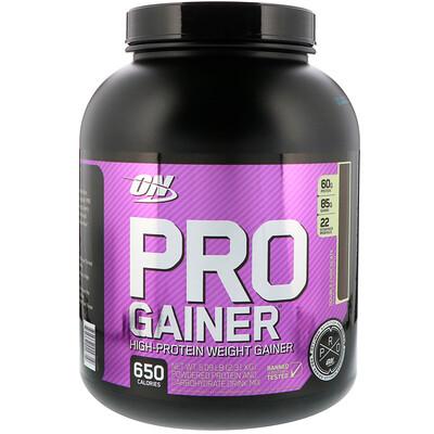 Pro Gainer, средство для набора веса (гейнер) с высоким содержанием протеина, двойной шоколад, 2310 г (5.09 lb) гейнер olimp max mass 3xl 6000 г