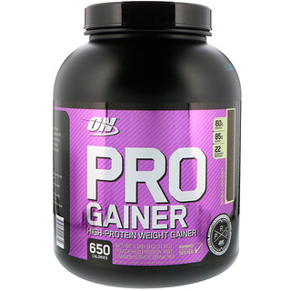 Optimum Nutrition, Pro Gainer, High-Protein Weight Gainer, Double Chocolate, 5.09 lb (2.31 kg)