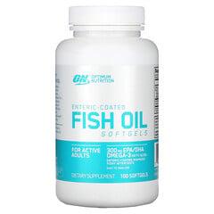 Optimum Nutrition, 腸溶魚油軟膠囊,100粒