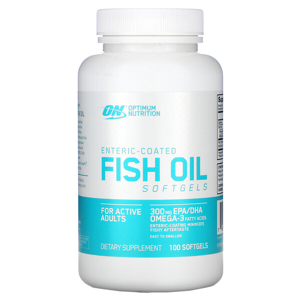 Enteric-Coated Fish Oil, 100 Softgels