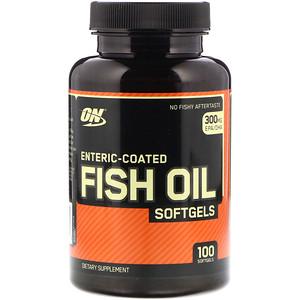 Оптимум Нутришэн, Enteric-Coated Fish Oil, 100 Softgels отзывы покупателей