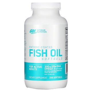 Optimum Nutrition, 腸溶性フィッシュオイル, 200ソフトゼリー