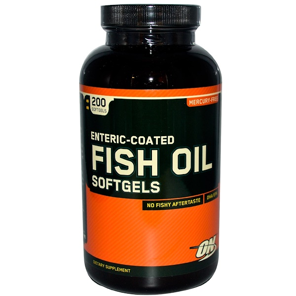 Optimum Nutrition, Enteric Coated Fish Oil, 200 Softgels