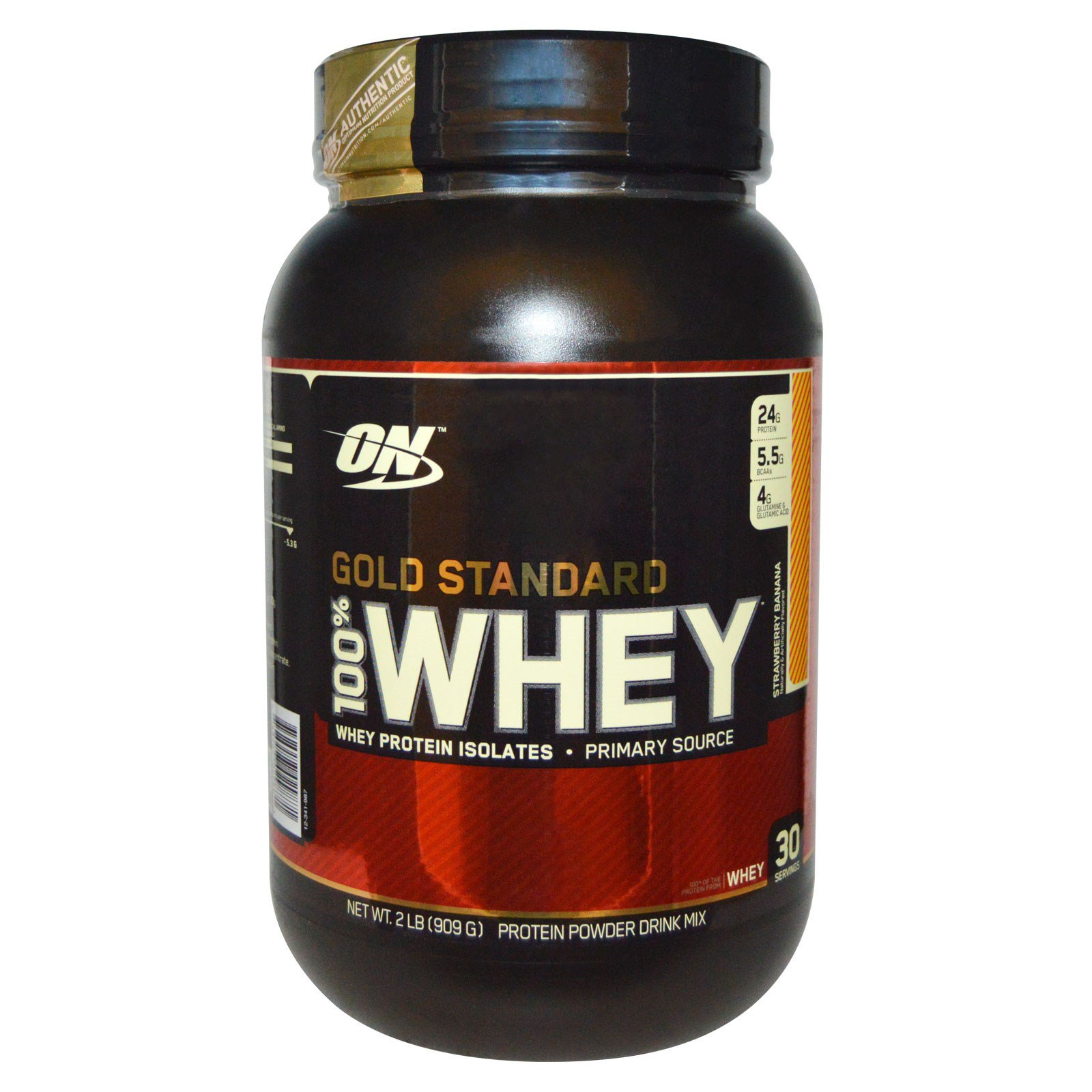 Optimum Nutrition, Gold Standard, 100% Whey, Strawberry ...