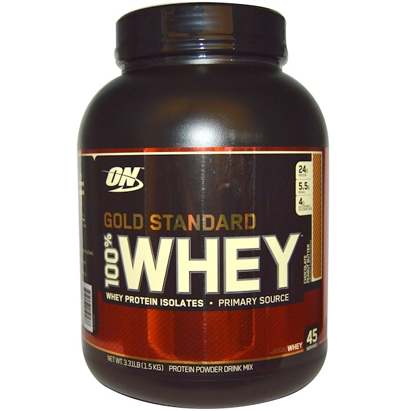 Optimum Nutrition, Gold Standard, 100% Whey, Chocolate Peanut Butter, 3.31 lbs (1.5 kg) (Discontinued Item)