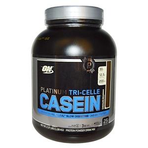 Оптимум Нутришэн, Platinum Tri-Celle Casein, Chocolate Decadence, 2.37 lbs (1.08 kg) отзывы