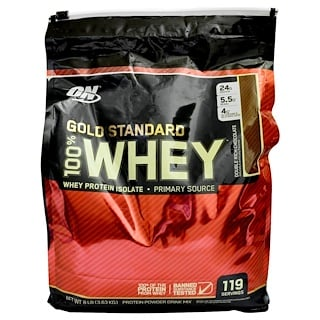 Optimum Nutrition, Gold Standard, 100% Whey, Double Rich Chocolate, 8 lb (3.63 kg)