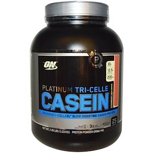 Оптимум Нутришэн, Platinum Tri-Celle Casein, Strawberry Indulgence, 2.26 lbs (1.03 kg) отзывы
